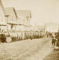 Bridgton Band in Pondicherry Square, ca. 1870