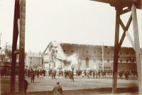 Grand Trunk Railroad terminal destruction, ca. 1894