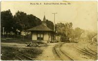 Sandy River and Rangeley Lakes Railroad station, Strong, ca. 1910