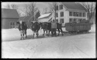 Ox team, Upper Main Street, Strong, ca. 1910