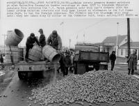 Potato blockade, Fort Fairfield, 1980