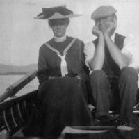 John and Alice Dunn, Moosehead Lake region, 1904