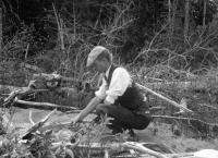 John W. G. Dunn cooking fish