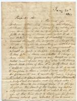 Warren Fowler letter seeking help, 1863