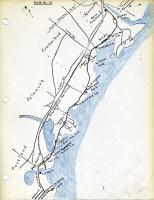 Electric railroad route map, ca. 1933