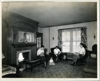 Home Ec Cottage Living Room, Farmington State Normal School, 1936