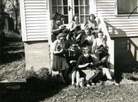 Students Knitting