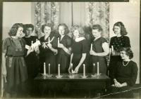 Home Economics initiation, Farmington, ca. 1950