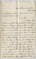 Letter on behalf of ill soldier, Virginia, 1863