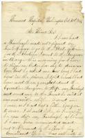 Cyrus McBride letter on election, Washington, D.C., 1863