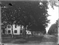 Lower Main Street looking toward the village, Strong, ca. 1910