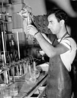 Chemist extracting manganese, New Jersey, 1954