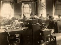 Office workers, Gannett Publishing Co., Augusta