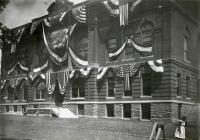 Waterville City Hall during the centennial celebration, 1902