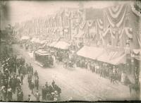 Waterville Main Street during the centennial celebration, 1902