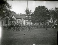 Military drill, Waterville, ca. 1900