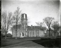 Memorial Hall, old Colby College campus, Waterville, ca. 1900