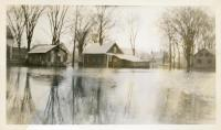 Flooded homes in Fairfield, 1936