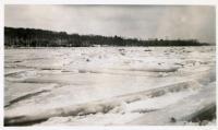 Broken blocks of ice, Winslow, 1936
