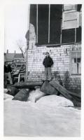 Grounded ice blocks, Fairfield, 1936