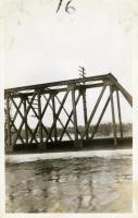 Near-flooded bridge, Winslow, 1936