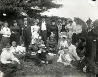 Swami Vivekananda and guests at Green Acre, Eliot, 1894