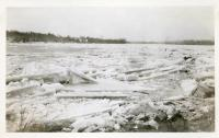 Ice blocks on the Kennebec, Waterville and Winslow, 1936
