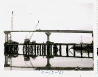 Campobello Roosevelt Bridge construction, Lubec, 1961
