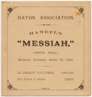 Handel oratorio program, Portland, 1883