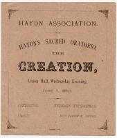 Haydn's 'Creation' program, Portland, 1882