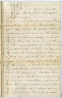 Sgt. Horace White letter concerning Confederate soldiers, 1863