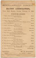 Hayden Association concert program, Portland, 1884