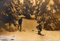 Ski racers, ca. 1914