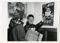Book Week excitement, Waterville Public Library, Waterville, 1955