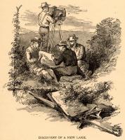 "Thomas Steele ""discovers"" lake near Matagamon Lake, 1879"