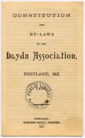 Haydn Association Constitution and Bylaws, Portland, 1886