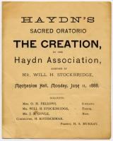 Cover of the program for Haydn's oratorio