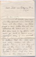 John Sheahan note on Gettysburg victory, 1863