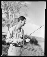 Ted Williams fishing, ca. 1950