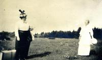 Goodbyes on Harmony Hill, Cousins Island, ca. 1920
