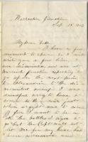 Pvt. John Sheahan on transfer to dismounted camp, 1863