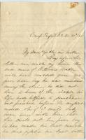 Pvt. John Sheahan on death of brother in war, 1863