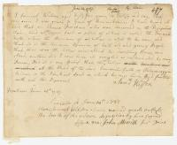 Samuel Wilson deposition concerning Ten Mile Falls, 1787