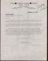 Commissioner of Education letter, Surry, 1952