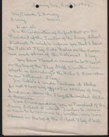 Harry G. Carter Flag Letter, Surry, 1952