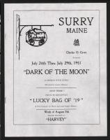 Playbill, Surry Playhouse, Surry, 1951