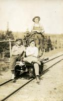 Break time for railroad section crew, ca. 1929