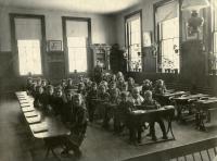 Model classroom, Farmington State Normal School, 1870s
