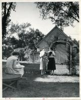 Normal School students in Mary Palmer Garden, 1948