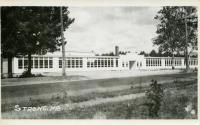 Strong Public School and Randall-Thomas Gymnasium, Strong, ca. 1951
